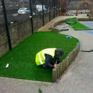 Artificial Grass Play Area - Crow Lane School