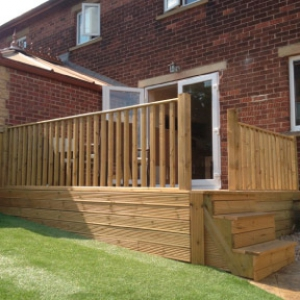 Decking Area - Honley