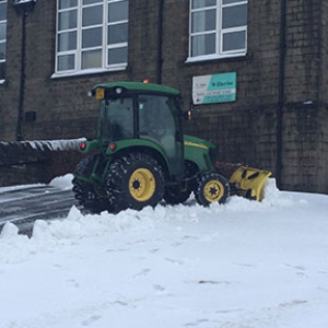 Snow clearing in Huddersfield